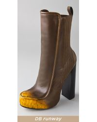 Alexander Wang - Brown Addison Leather Boots - Lyst