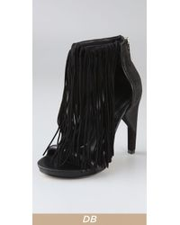Alexander Wang - Black Dree Fringed Leather Sandals - Lyst