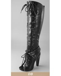 Alexander Wang | Black Freja Lace-up Boots | Lyst