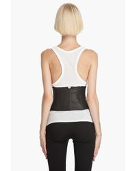 Alexander Wang | White Leather Vest Corset | Lyst