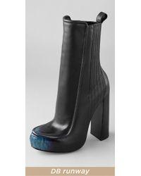 Alexander Wang | Blue Addison Platform Boots | Lyst