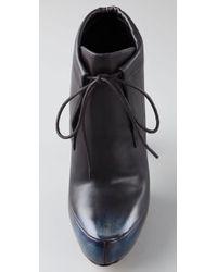 Alexander Wang - Blue Constance Platform Booties - Lyst
