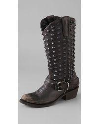 Ash | Black Clash Shod Shaft Boots | Lyst