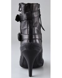 Ash - Black Penny High Heel Sneaker Booties - Lyst