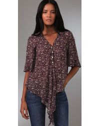 Blu Moon - Purple Mighty Aphrodite Blouse - Lyst