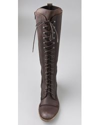 Charles David | Brown Regiment Lace-up Boot | Lyst
