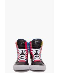 DIESEL | Black Clawster Sneakers for Men | Lyst