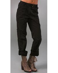 DKNY | Black Pure Dkny Cargo Pants | Lyst
