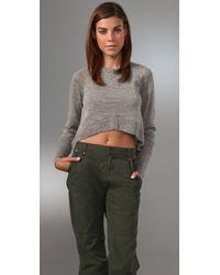 Dolce Vita - Gray Baby Alpaca Cropped Sweater - Lyst
