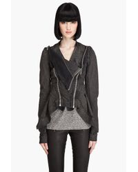 DRKSHDW by Rick Owens | Gray Painted Grey Jean Jacket | Lyst