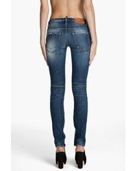 DSquared² - Blue Super Skinny Low Rise Jeans - Lyst