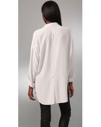 Ever - White Madras Blouse - Lyst