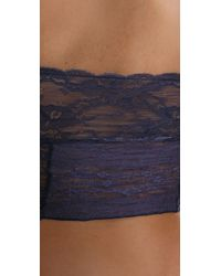 Free People - Blue Galoon Lace Cropped Tube Top - Lyst