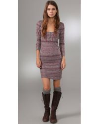 Free People | Pink Sunrise Knit Dress | Lyst