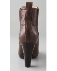 Frye - Brown Miranda Chelsea Booties - Lyst
