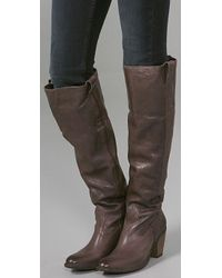 Frye - Brown Taylor Over The Knee Boots - Lyst