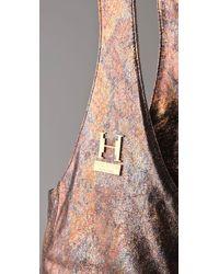 Halston - Gray Carla Lady Flap Crossbody Bag - Lyst