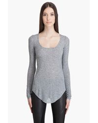 Helmut Lang | Gray Long Sleeve T-shirt | Lyst