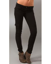 Hudson Jeans | Black Noah Flap Pocket Cargo Skinny Pants | Lyst