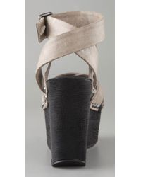 Joe's Jeans | Natural Brenda Platform Sandals | Lyst