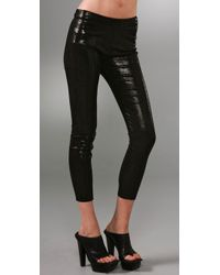 Les Chiffoniers | Black Glitter Suede Leggings with Pockets | Lyst