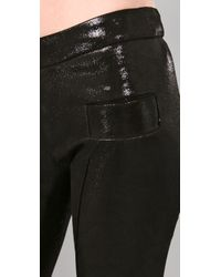 Les Chiffoniers - Black Glitter Suede Leggings with Pockets - Lyst