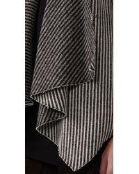 Loeffler Randall - Gray Draped Front Coat - Lyst