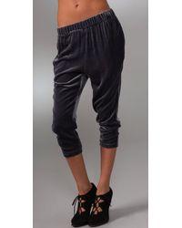Lover | Blue Velvet Slouchy Pants | Lyst