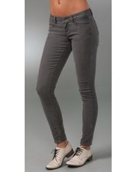 PAIGE | Gray Corduroy Verdugo Jeggings | Lyst