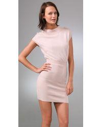 Plastic Island - Natural Cold Shoulder Dress - Lyst