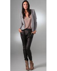 Rachel Pally - Gray Shoulder Pad Cardigan Sweater - Lyst