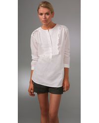 Rebecca Taylor | White Pintuck Tunic | Lyst