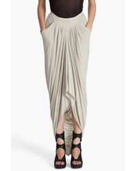 Rick Owens Lilies - White Long Draped Skirt - Lyst