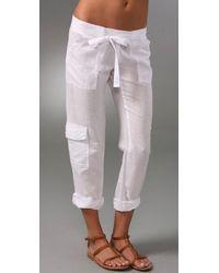 Splendid | White Linen Pants | Lyst