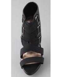 Steven by Steve Madden - Black Denah Caged Sandals - Lyst