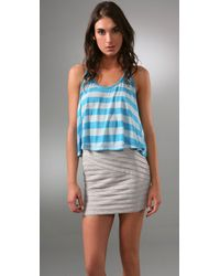 Torn By Ronny Kobo | Blue Tracy Circus Stripe Tank | Lyst