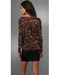 Torn By Ronny Kobo - Brown Roxy Sparks Tee - Lyst