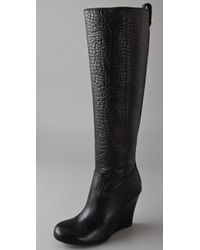 Tory Burch | Black Dabney Wedge Boots | Lyst