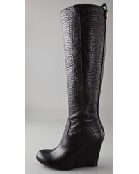 Tory Burch   Black Dabney Wedge Boots   Lyst