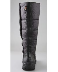 UGG   Black Lonnie Nylon Puffer Boots   Lyst