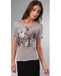 Vena Cava - Gray Viva Vena Decoupage T-shirt - Lyst