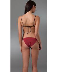 3.1 Phillip Lim - Pink Teeny Bikini Top with Heart Loop Ties - Lyst