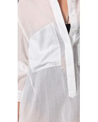 3.1 Phillip Lim | White Button Down Cover Up | Lyst