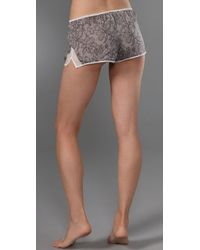 3.1 Phillip Lim - White Printed Lace Tap Pants with Side Slits - Lyst