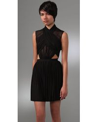 Alexander Wang | Black Crossover Draped Dress | Lyst