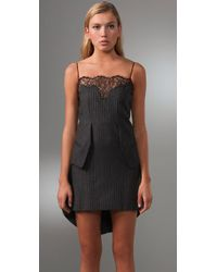 Alexander Wang - Black Wool and Lace Tailcoat Dress - Lyst