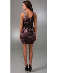 Alice + Olivia - Purple Bow-belt Tulip Dress - Lyst