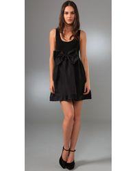 Alice + Olivia - Black Gretchen Tank Dress with Bow Belt - Lyst