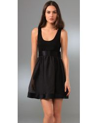 Alice + Olivia | Black Gretchen Tank Dress with Bow Belt | Lyst