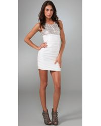 Alice + Olivia | White Annette Sequin Dress | Lyst